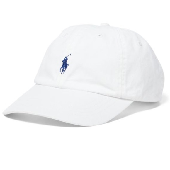 White Polo Hat with Navy Horse. M 5ab4fa96331627d8b5a97fb3 7bf6d3b8f18
